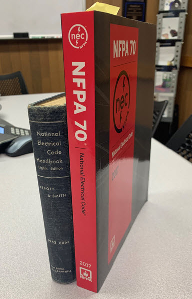 National Electrical Code 1953 and 2017